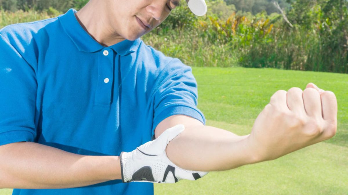 golfers elbow pain during game