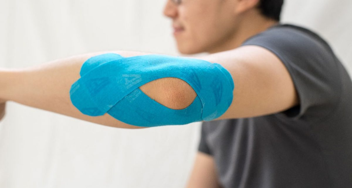 tennis elbow kinesiology tape